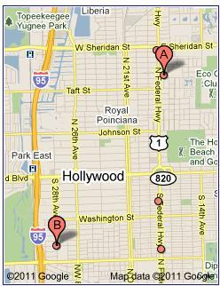 Hollywood Fl Zip Code Map 33020 | Towing Hollywood FL